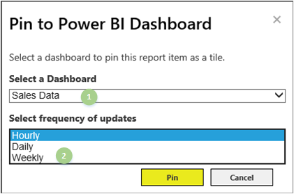 Excel 2016 Pin to Power BI