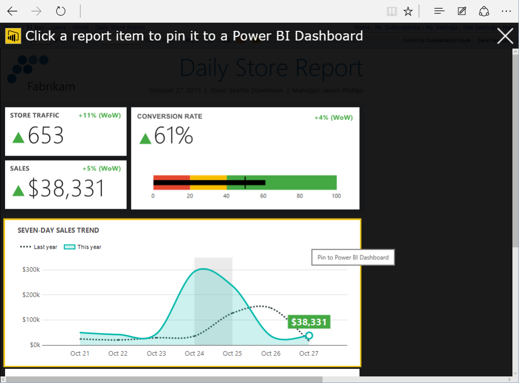 SSRS 2016 Power BI